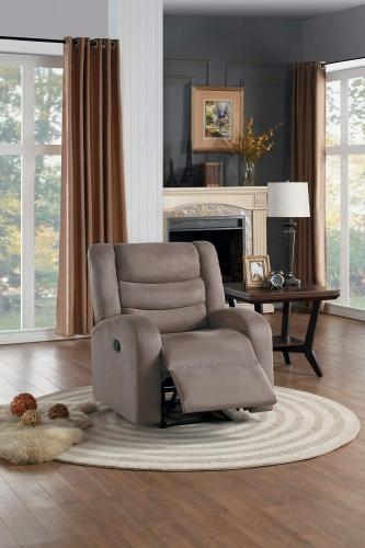 Earl Reclining Chair - Brown Fabric