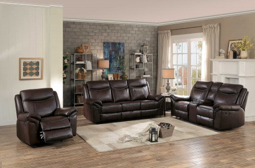 Aram Reclining Sofa Set - Dark Brown AireHyde Match
