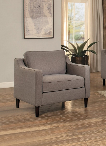 Lotte Chair - Brown Fabric