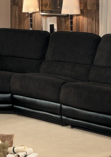 Ynez Armless Chair - Chocolate Fabric/Leather Gel
