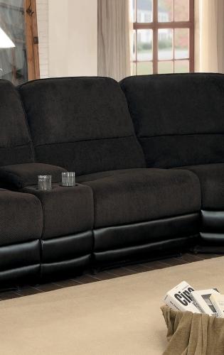 Ynez Armless Reclining Chair - Chocolate Fabric/Leather Gel
