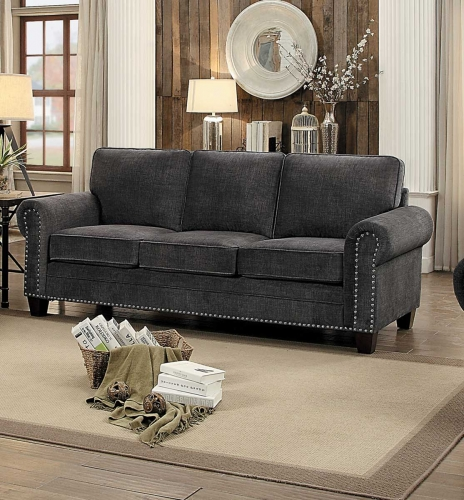 Cornelia Sofa - Dark Gray Fabric