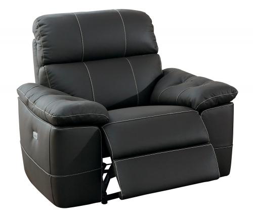 Nicasio Power Reclining Chair - Dark Brown Leather