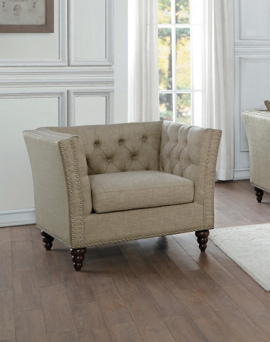 Marceau Chair - Tan Fabric