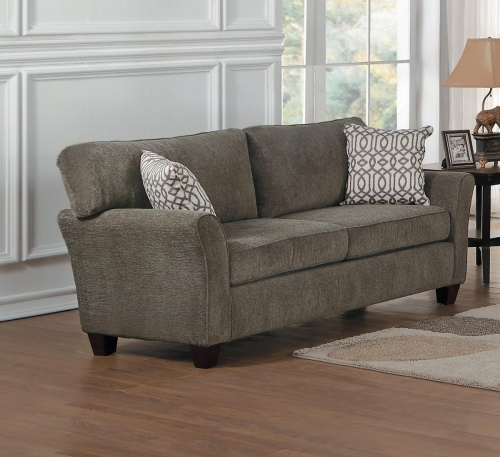 Alain Love Seat - Gray Fabric