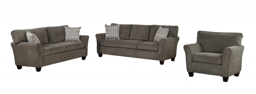 Alain Sofa Set - Gray Fabric