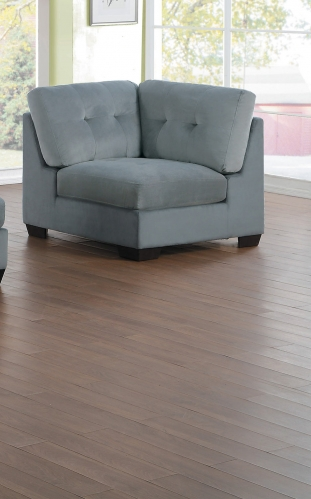 Savarin Corner Seat - Light Gray Fabric