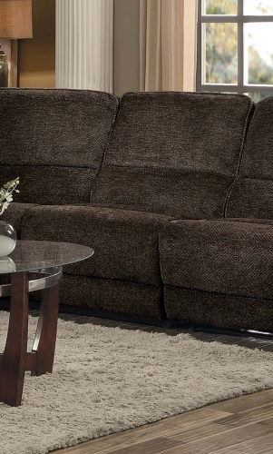 Shreveport Armless Chair - Brown Fabric