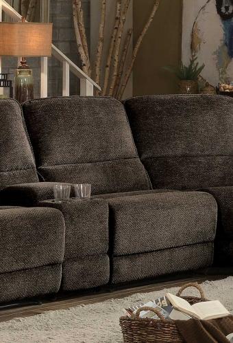 Homelegance Shreveport Armless Reclining Chair - Brown Fabric