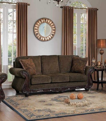 Mandeville Sofa - Brown Chenille