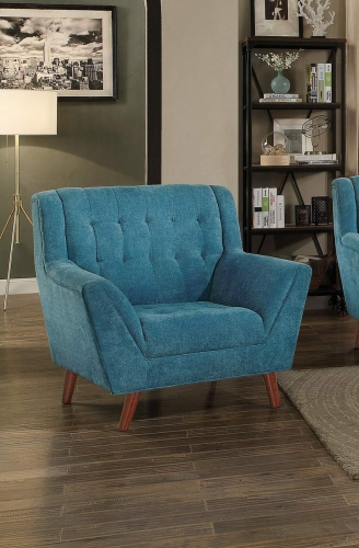 Erath Chair - Blue Fabric