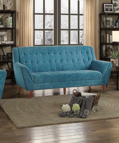 Erath Sofa - Blue Fabric