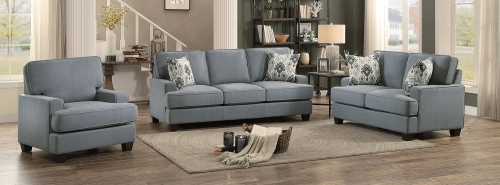 Kenner Sofa Set - Gray Fabric