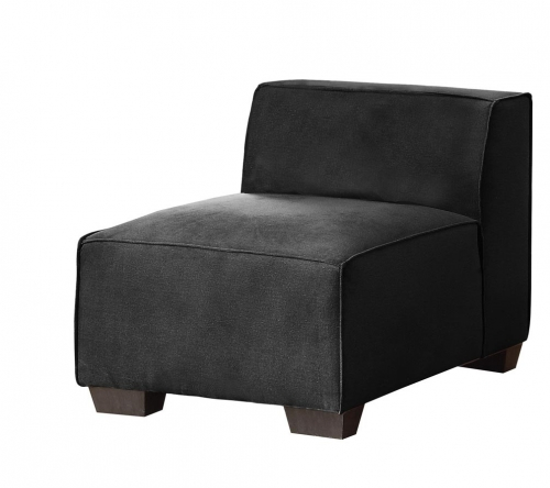 Metz Armless Chair - Polyester - Graphite