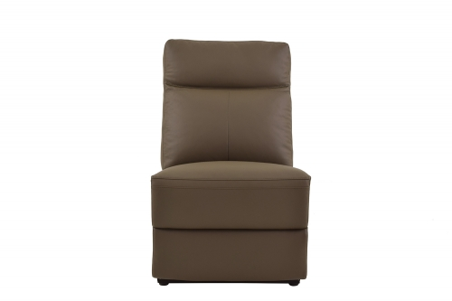 Olympia Armless Chair - Raisin Top Grain Leather Match
