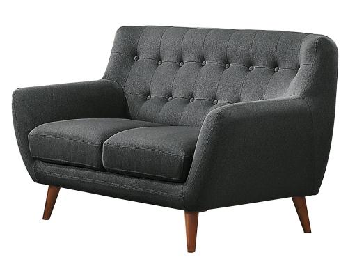 Anke Love Seat - Polyester - Dark Grey