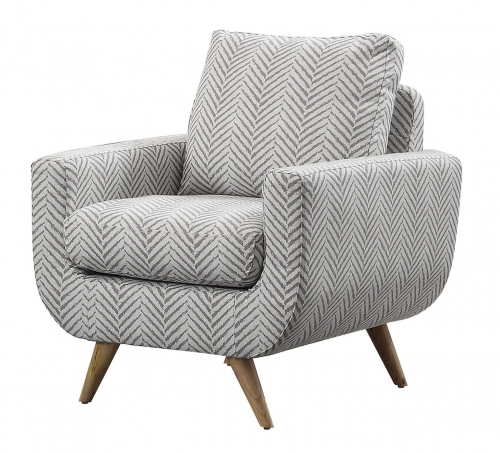 Deryn Accent Chair - Polyester - Grey