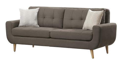Deryn Sofa - Polyester - Grey
