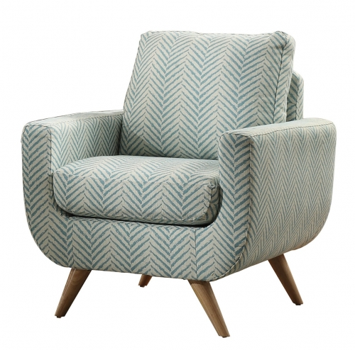 Deryn Accent Chair - Polyester - Teal