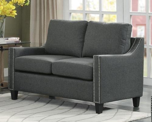 Pagosa Love Seat - Polyester - Dark Grey