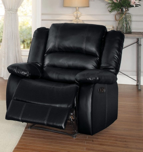 Jarita Reclining Chair - Bi-Cast Vinyl - Black