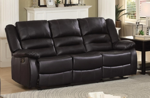 Jarita Double Reclining Sofa - Bi-Cast Vinyl - Brown
