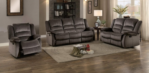 Jarita Reclining Sofa Set - Chocolate Fabric