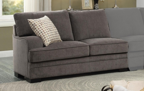 Alamosa Left Side 2-Seater - Chenille - Brown