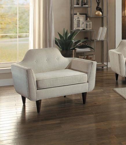 Ajani Chair - Beige Fabric