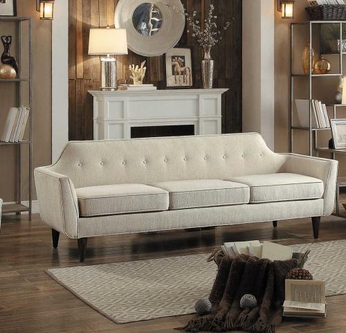 Ajani Sofa - Beige Fabric