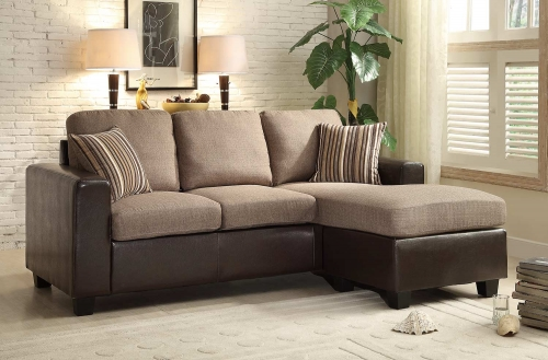 Slater Sectional Sofa - Greyish Brown/Dark Brown
