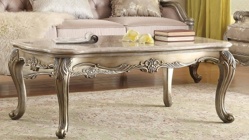 Fiorella Cocktail/Coffee Table - Silver/Gold