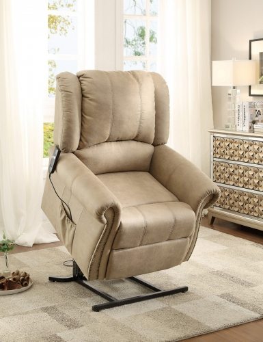 Iola Power Lift Chair - Polyester - Taupe