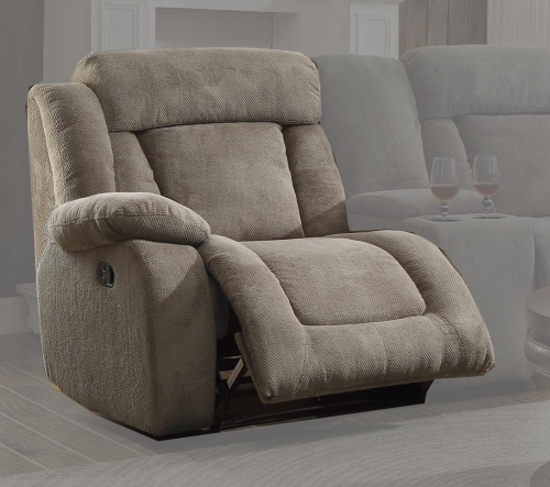 Calumet Ridge Left Side Reclining Chair - Polyester - Taupe
