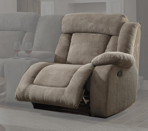 Calumet Ridge Right Side Reclining Chair - Polyester - Taupe