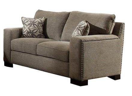 Gowan Love Seat - Chenille - Brown