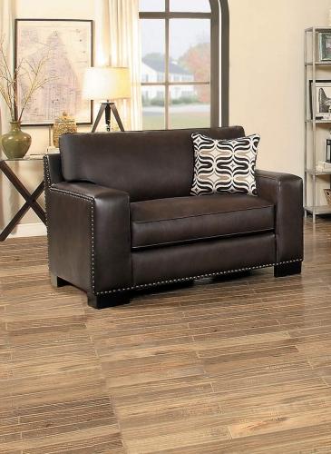 Gowan Chair - Dark Brown Leather Gel Match