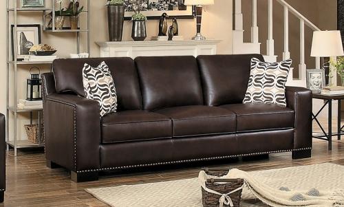 Gowan Sofa - Dark Brown Leather Gel Match