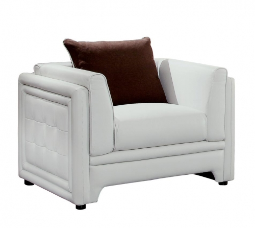 Azure Chair - Faux Leather - Off White