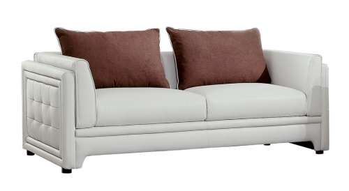 Azure Sofa - Faux Leather - Off White