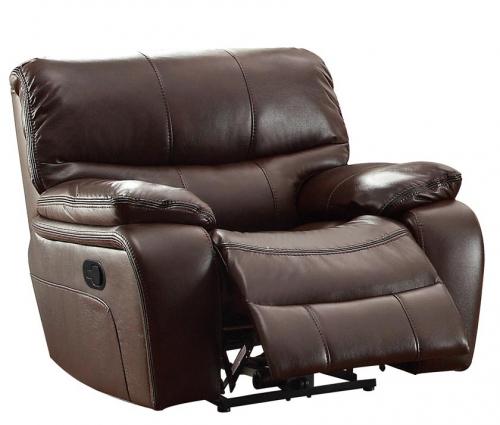 Pecos Glider Reclining Chair - Leather Gel Match - Dark Brown