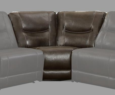 Columbus Corner Seat - Breathable Faux Leather - Dark Brown