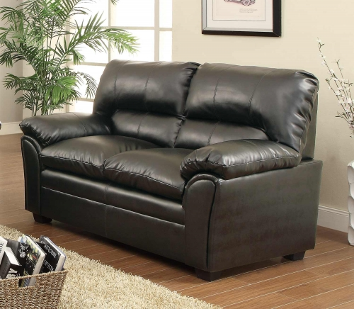 Talon Love Seat - Black