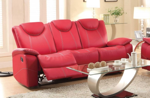 Double Reclining Sofa Red