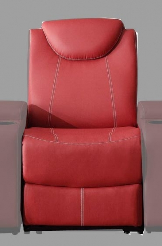 Talbot Armless Reclining Chair - Bonded Leather Match - Red