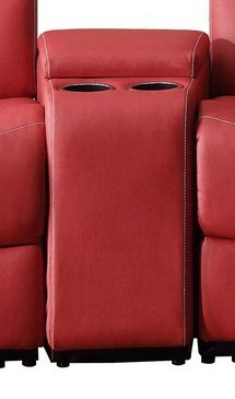 Talbot Console - Bonded Leather Match - Red