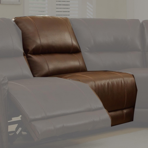 Blythe Armless Chair - Brown - Bonded Leather