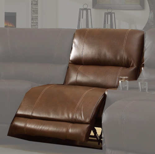 Blythe Armless Recliner Chair - Brown - Bonded Leather