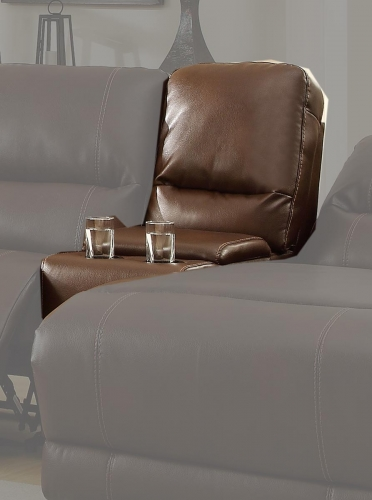 Blythe Console - Brown - Bonded Leather
