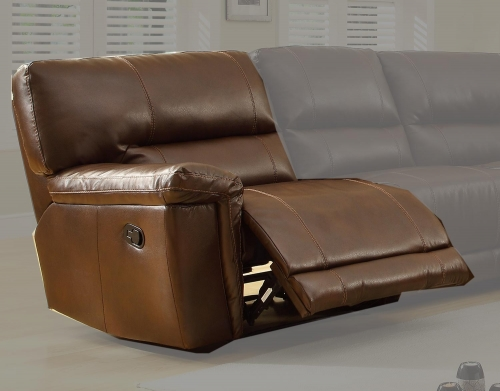 Blythe LSF Recliner Chair - Brown - Bonded Leather